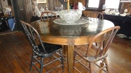 Round table, matching china cabinet and buffet,