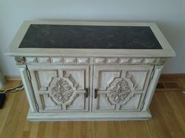 Marble top storage chest
