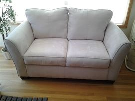 Ivory Microfibre sofa