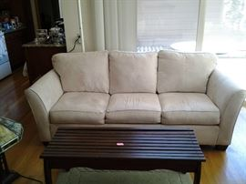 Ivory microfiber couch