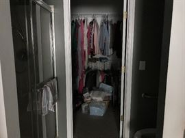 A closet full of great clothes for anyone with exquisite taste.