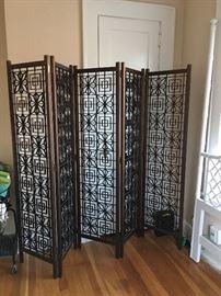 beautiful condition wood folding screen