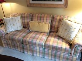 Custom Plaid Sofa - Edwin Pepper Interiors