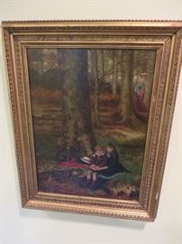 Decorative Import Painting of what appears to be late 19th / early 20th Century by European Painter.  Canvas is marked London