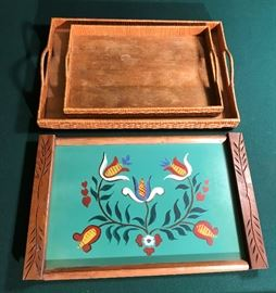 WOODEN TRAYS  http://www.ctonlineauctions.com/detail.asp?id=694893