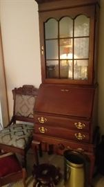 2 piece small size secretary, Eastlake style chair