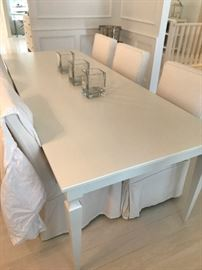 Dining Table and 6 chairs.  Table priced separately from chairs.