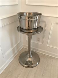 Stainless ice bucket and stand