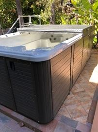 Cal Spa swim pro swimspa FREESTLE F-1420 6 person swimspa with 20 jets $7250 - This is 6 months old - this needs to be sold - it is listed very inexpensively because there are costs associated with moving the spa. (appx $1250 for a crane this cost will be absorbed by the owner but moving from the current property is up to the new buyer)