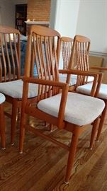 Set of six Benny Linden Design dining chairs