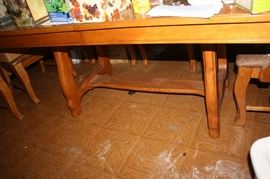 Bottom of solid wood table that seats 10