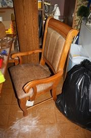 Captains chair for the dining room table.  There are 2 captain's chairs and 6 regular chairs