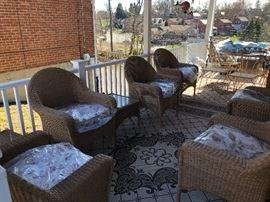 6 Wicker Armchairs and 2 Wicker Side Tables  https://www.ctbids.com/#!/description/share/5954