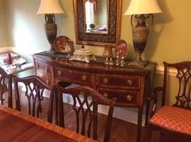 Baker Furniture - Historic Charleston Reproduction Mahogany Inlaid Hepplewhite Sideboard