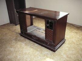 Vintage console tv cabinet