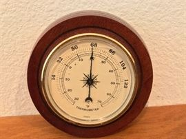 vintage thermometer France, wood framed