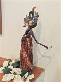 Vintage Indonesian Walang Golek Stick Puppet