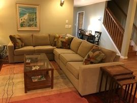 Ethan Allen Sofa & Coffee Table / Pottery barn Nesting Tables