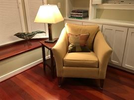 Ethan Allen Chair & Table / Crate & Barrel Lamp