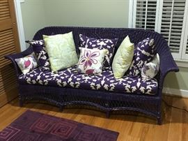 Purple Wicker Loveseat (Ravens Fans Out There?)
