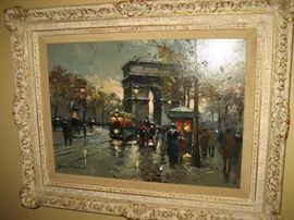 Antoine Blanchard painting