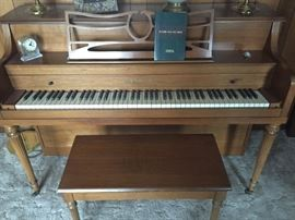 W D Haines and Company, piano and bench