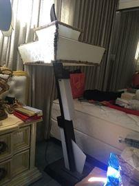 2 MID CENTURY MOSS LAMPS & 1 MOSS FLOOR LAMP