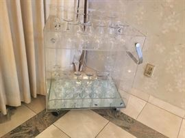 LUCITE CART/BAR