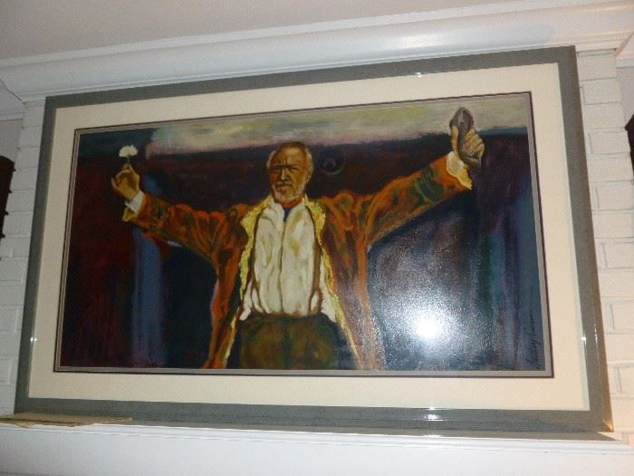 Signed & Numbered ANTHONY QUINN Serigraph titled 'TRIUMPH'