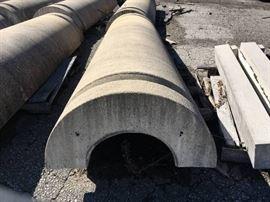 2 Precast Concrete Column halves