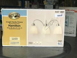 Hampton Bay 3 light vainty fixture