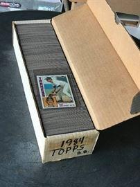 1984 Topps Baseball card complete set