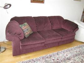 Burgundy Sofa & matching love seat
