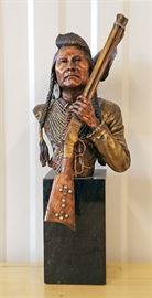 "1991 ""No More Forever-Chief Joseph"" by Chris Pardell, 4th in the Legacies of the West premier edition issued by Legends, 15"" tall"