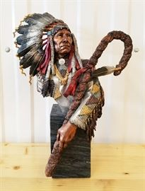 "1990 ""Victorious-Red Cloud"" by Chris Pardell, 2nd in the Legacies of the West premier edition issued by Legends, 16"" tall"