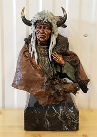 "Ltd Ed Sculpture ""Vacant Thunder"" David Lemon 13"""
