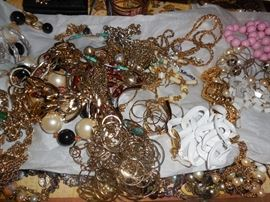 Loads of costume jewelry including cubic zirconium.