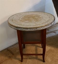 Another Turkish Table w/Glass Compartment Below