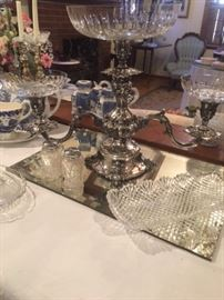 Reed and Barton silver epergne take the stage!