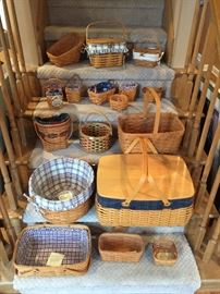 Longaberger baskets.. most are from the 1990's. this is a small sample of the collection.