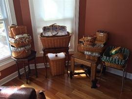 Longaberger basket collection.