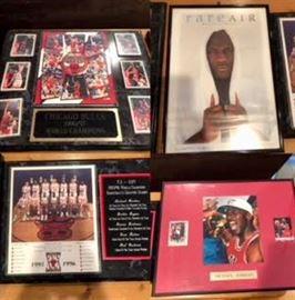 Michael Jordan framed montage and framed cards/pictures