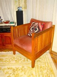 Stickley Cube Chair ( one of pr. purchased in 1990's)