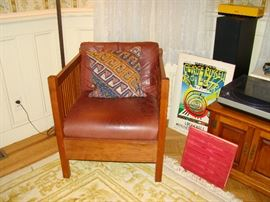 Other Stickley Cube Chair Leather Cushions