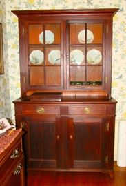 Walnut Dutch Cupboard Delaware Valley Origin