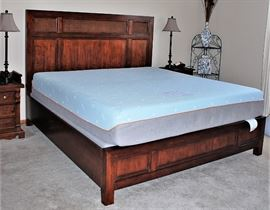 King Sized Wooden Bed W/ Cane -Matress & Box Spring NOT included