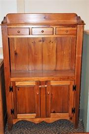 Mastercraft Pine Hutch Cabinet