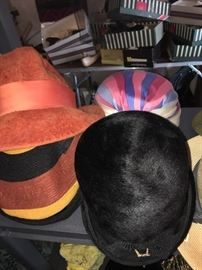 The collection of hats is impressive & extensive! See listing for many of the designer names!!! Amazing!