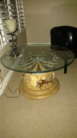 Unique carousel spinnig table with another matching table