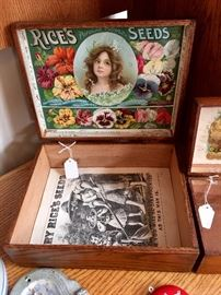 ANTIQUE RICE'S SEED BOX